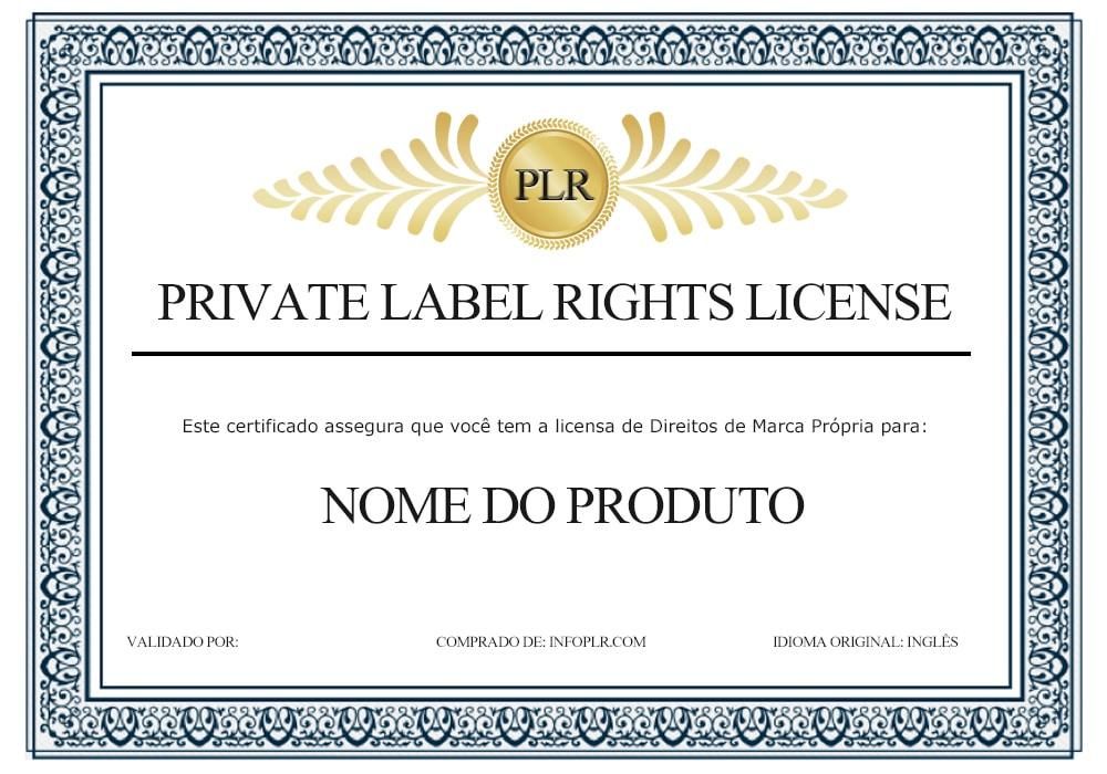 certificado plr